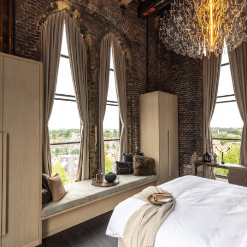 Bed with a view over Weesp The Clock Tower
