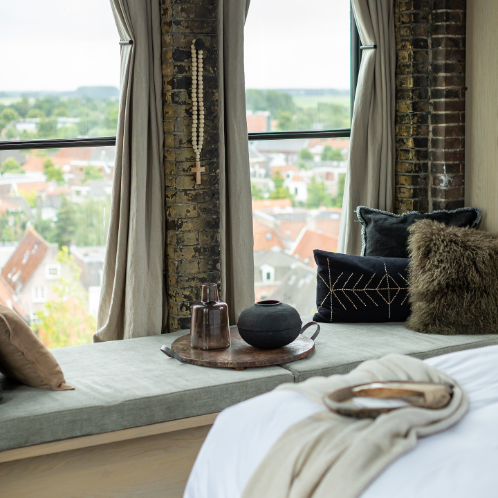 Hotel room with a view over Weesp The Clock Tower